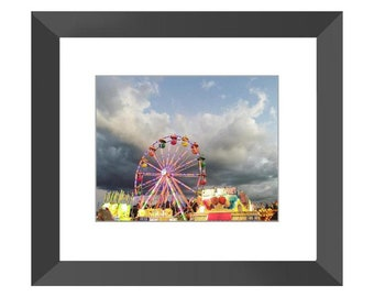The Carnival Framed Print (Black or White)