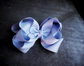 Periwinkle 6 Inch Double Stacked Bow