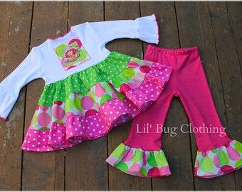 Strawberry Shortcake Outfit- Strawberry Shortcake Costume- Strawberry Shortcake Girl Clothes- Strawberry Shortcake Twirl Dress