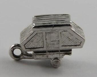 Trailer Sterling Silver Vintage Charm For Bracelet