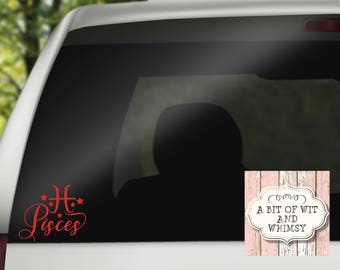 Constellation / Zodiac Sign / Pisces / Vinyl Decal / Car Decal / Laptop Decal / Mirror Decal / Tumbler Decal / February / March / Birthday