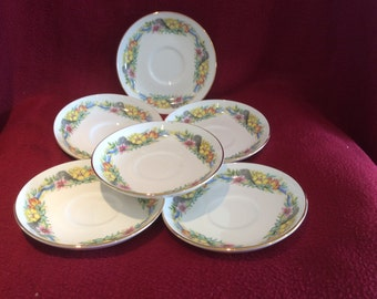 Dorchester Country Flowers Saucers