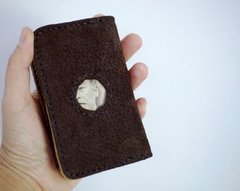 SUEDE CARD CASE