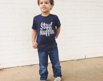 Stud Muffin Tee, Kids Shirt, TShirt, Cute Kid Clothing, Trendy kids, Hipster kids clothes, child t-shirt, Screen Printed Shirt, Graphic Tee