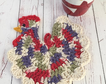 Chicken table protector,red,white,purple,sage green,trivet,farm house,gift for mom,gift for teacher,French decor,gifts under 20
