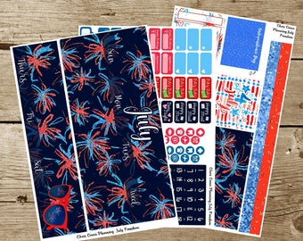 Monthly Kit: July 2017-- Freedom (for use in Erin Condren Life Planner)