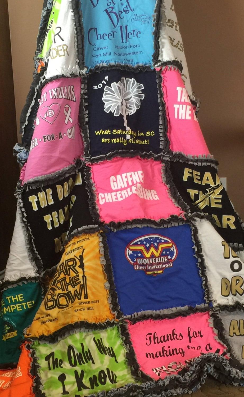 ragged t shirt blanket custom memorial blanket concert blankets