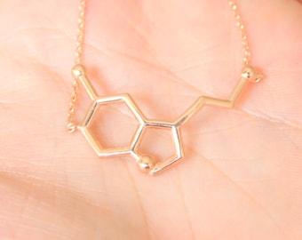 Rose Gold Serotonin Bracelet~ Silver Serotonin Bracelet ~ Chemistry Necklace ~ Mothers Day ~ Birthday Gift ~ Valentines Day ~ Christmas gift