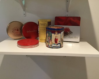 Vintage candy and cookie tins