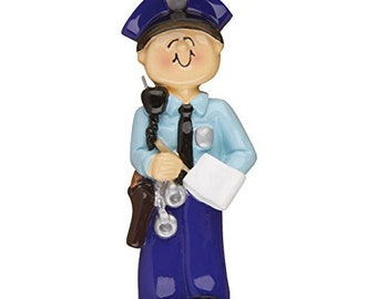 Personalized Policeman Ornament