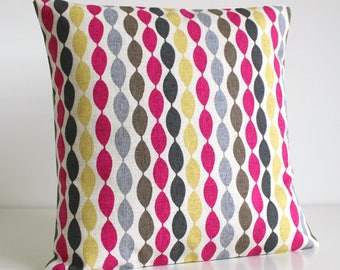 Throw pillow cover, Decorative Pillow Sham, Couch Pillow, Toss Pillow Cover, Cushion Cover, Pillow Cover - Gemstone Fuchsia