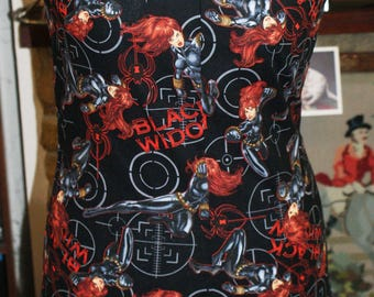Marvel Avengers Black Widow Retro Mod Style Dress 12-14