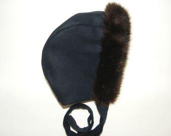 Crush fur and wool Navy 2/3/4/6 years
