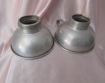 VINTAGE aluminum Canning Funnels Food / VINTAGE caning aluminum funnel