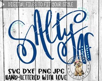 Salty AF - Hand lettered - svg, dxf, png, jpg, life, beach, summer, funny,  Brush Lettering, Cricut, Studio Cutable file