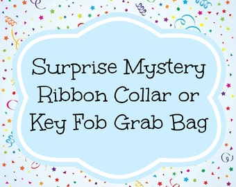 Surprise Mystery Ribbon Collar or Key Fob Grab Bag