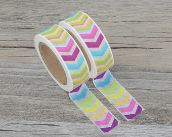 Chevron Washi Tape - Rainbow Chevron Masking Tape