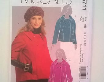 McCall's Pattern 5711 for a Lined, Loose-Fitting, Flared Jacket,  -  Sizes 6, 8, 10, 12, 14 -  Uncut Pattern