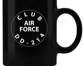 Club DD-214 Air Force - Coffee Mug - Black