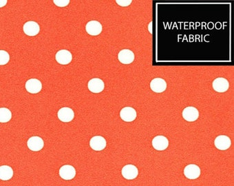 "Polka Dots pattern, WATERPROOF Fabric, by Yard, 148cm(58"") Width"