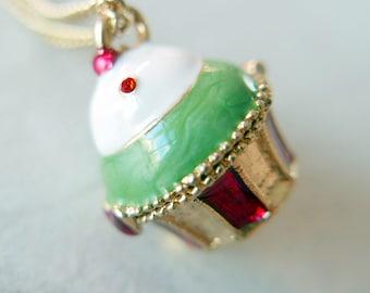 Muffin Necklace locket magic box, wish box