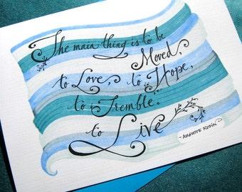 Graduation Card - Inspirational Card - Rodin Quote - College Graduate - Art School Graduate Card