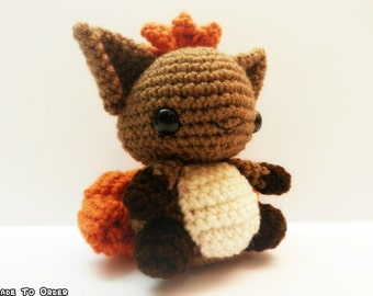 Crochet Vulpix Inspired Chibi Pokemon