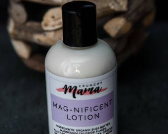 Organic Magnesium Lotion/ Magnesium Lotion/ Magnesium Oil/ Muscle Rub/ Cramp Relief / Calming Lotion/ Magnesium cream/ Magnesium Body Butter