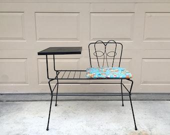Mid Century Modern Gossip Bench/Telephone Table
