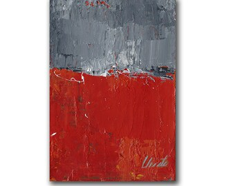 "Abstract Painting. ""Red Gray White"""