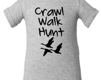 DUCK hunting baby bodysuit, duck hunting baby clothes, duck hunting baby one piece, duck hunting baby shower gift, future hunter