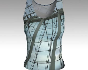 Tank Top, Glass and Steal Tank Top, Photo Art Tank Top, Windows Tank Top, Fitted Tank Top, Women's Tank Top, Women's Tops, Yoga Tops, Gift