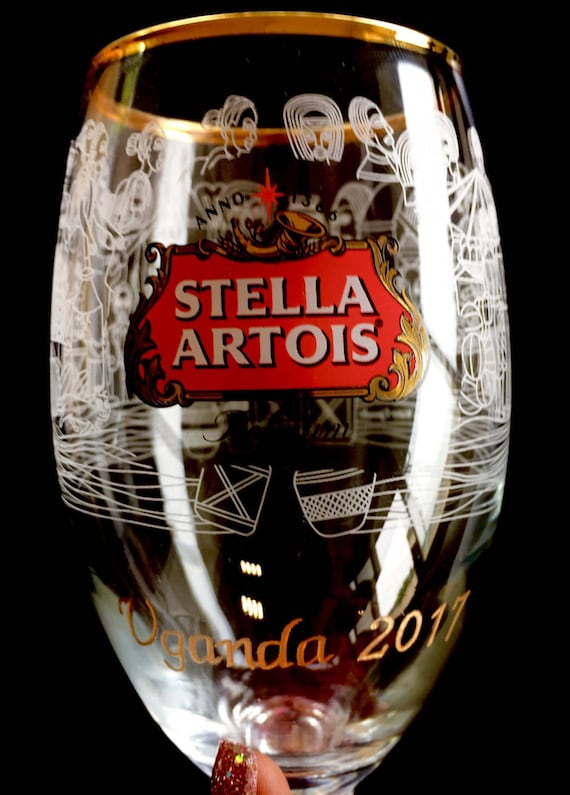 Stella Artois Buy a Lady A Drink, Chalice Engraving, STELLA CHALICE 40CL, chalice engraving, stella artois engraved, 1Chalice5years, etched