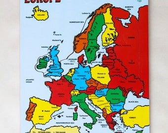 Jigsaw Map of Europe