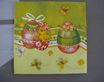 set of 2 Bunny Easter egg paper napkins