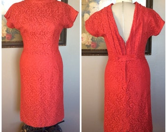 Red Lace Dress by Julie Miller California