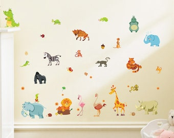Animals Nursery Wall Decal, Nursery Decals, Wall Decal, Nursery Decor,  Vinyl Wall