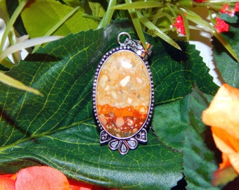 Golden Jackel Shifter inspired vessel - Handcrafted Mookaite Jasper pendant with chain