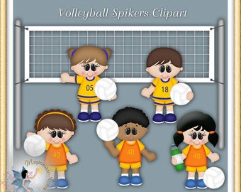 Volleyball Clipart, Sports Players