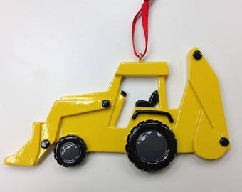 Backhoe  Personalized Christmas Ornament, Backhoe ,Ornament,Personalized,Backhoe  Ornament, Construction, Excavator