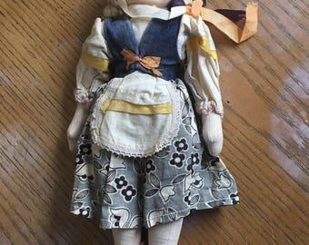 Antique handmade folk doll