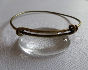 Adjustable Bangle Bracelet antique bronze