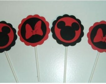 Mickey and Minnie Cupcake toppers (200C)