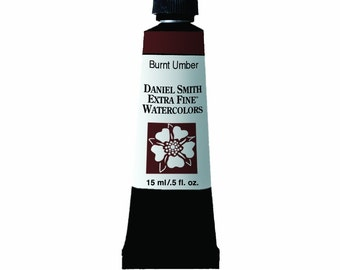 Daniel Smith Burnt Umber Watercolor Paint, 15ml Paint Tube, Daniel Smith Extra Fine Watercolor