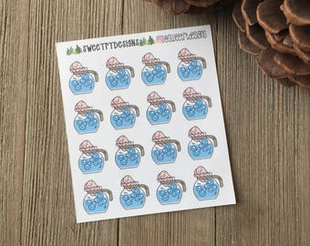 Functional Clean the Coffee Pot Planner Stickers