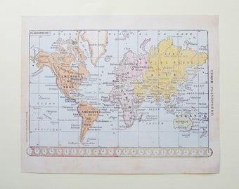 Vintage world map print etsy 8x10 vintage world map instant download digital print gumiabroncs Gallery