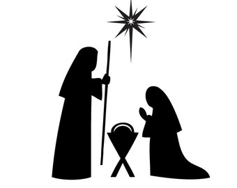 Christmas nativity decal DB361