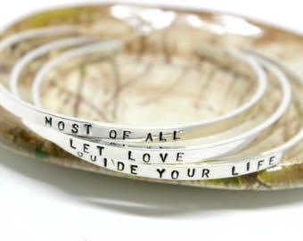 Personalized Cuff Bracelet. Name Cuff Personalized. Inspirational Bracelet. Custom Bracelets. Dainty Cuff Bracelet. Christian Jewelry.