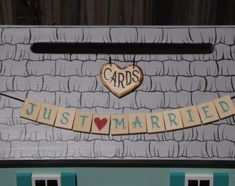 Painted Shingles added to your Wedding Card Box