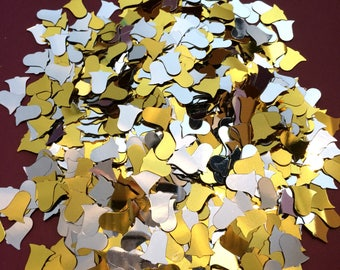 Confetti Table scatters weddings celebrations blessings metallic gold & silver bells approx 28g